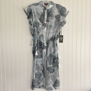 Vince Camuto Amalfi breeze sheer tunic SIZE PS